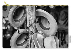 Carry-all Pouch featuring the photograph Cowboy Hats At Snail Creek Hat Company by David Morefield
