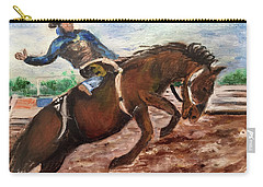 Cowboy In A Rodeo Carry-all Pouch