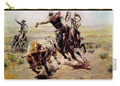 Cowboy Roping A Steer Carry-all Pouch