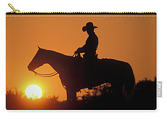 Cowboy Sunset Silhouette Carry-all Pouch