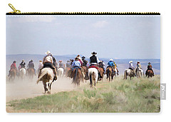 Cowboys And Cowgirls Riding Horses At The Sombrero Horse Drive Carry-all Pouch