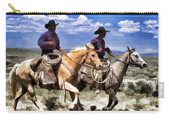 Cowboys On Horseback Riding The Range Carry-all Pouch