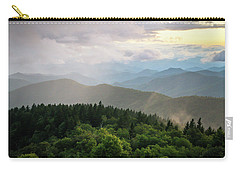 Cowee Mountain Sunset 4 Carry-all Pouch by Serge Skiba