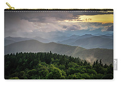 Cowee Mountain Sunset Carry-all Pouch by Serge Skiba