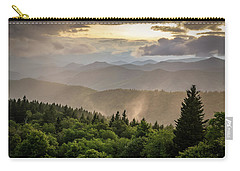 Cowee Mountains Sunset 2 Carry-all Pouch by Serge Skiba