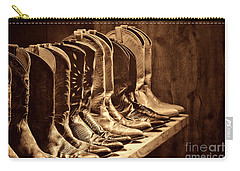 Cowgirl Boots Collection Carry-all Pouch by American West Legend By Olivier Le Queinec