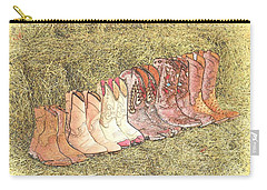 Cowgirls And Boots Carry-all Pouch