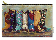 Cowgirls Kickin The Blues Carry-all Pouch by Frances Marino