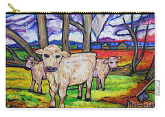 Cows And Fallen Gum Trees Carry-all Pouch by Dianne  Connolly
