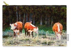 Cows In The Meadow  - Swish Swish Swish Carry-all Pouch
