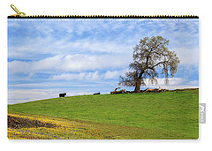 Cows On A Spring Hill Carry-all Pouch by James Eddy