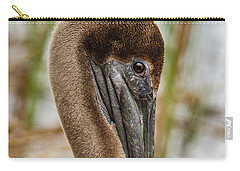 Carry-all Pouch featuring the photograph Coy Pelican by Jean Noren