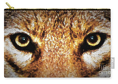 Carry-all Pouch featuring the digital art Cyote Eyes by Adam Olsen