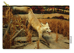 Carry-all Pouch featuring the digital art Coyote  by Chris Flees