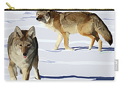 Coyote Pair Carry-all Pouch