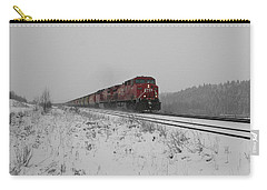 Carry-all Pouch featuring the photograph Cp Rail 2 by Stuart Turnbull