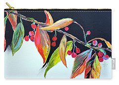 Carry-all Pouch featuring the painting Crab Apple by Jodie Marie Anne Richardson Traugott          aka jm-ART