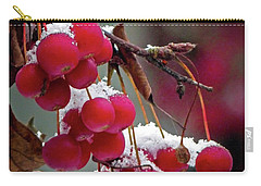Crab Apples Snow Carry-all Pouch