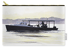 Carry-all Pouch featuring the painting Crab Boat Slick Calm Day Chesapeake Bay Maryland by G Linsenmayer