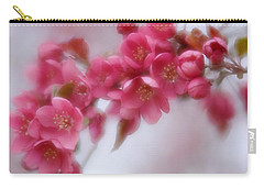 Carry-all Pouch featuring the photograph Crabapple Blossom - Dark Pink by Diane Alexander