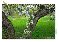 Crabapple Blossoms On A Rainy Spring Day Carry-all Pouch by Byron Varvarigos