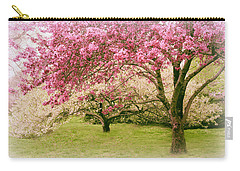 Carry-all Pouch featuring the photograph Crabapple Confection by Jessica Jenney