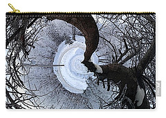 Crabapple Tree Carry-all Pouch by Ron Bissett