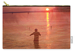 Crabbing At Chicks Beach Chesapeake Bay Va Beach Carry-all Pouch by Suzanne Powers