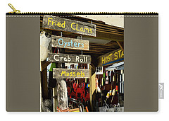 Carry-all Pouch featuring the photograph Crabs by Raymond Earley