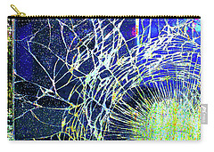 Carry-all Pouch featuring the mixed media Crack by Tony Rubino
