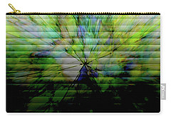 Cracked Abstract Green Carry-all Pouch