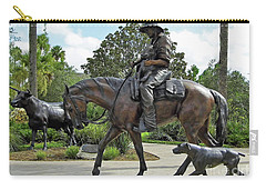 Cracker Cowboy And His Dog Carry-all Pouch by D Hackett