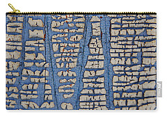 Crackled Blue White Paint Carry-all Pouch