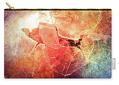 Cracks Of Colors Carry-all Pouch