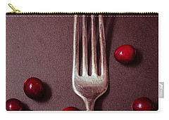 Cranberries And Fork Carry-all Pouch by Ana V Ramirez