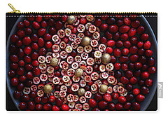 Cranberry Christmas Tree Carry-all Pouch