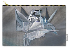 Carry-all Pouch featuring the painting Crane Pile by LaVonne Hand