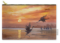 Cranes - Golden Sunset Carry-all Pouch
