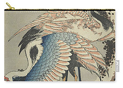 Cranes On Pine Carry-all Pouch by Hokusai
