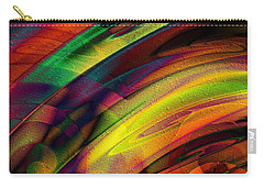 Carry-all Pouch featuring the digital art Crashing Colors by Kiki Art