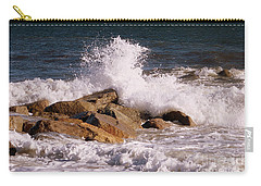 Crashing Surf On Plum Island Carry-all Pouch