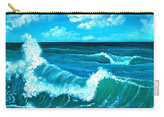 Carry-all Pouch featuring the painting Crashing Wave by Anastasiya Malakhova