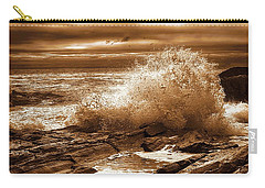 Crashing Wave Hdr Golden Glow Carry-all Pouch