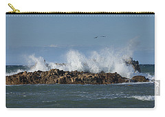 Crashing Waves And Gulls Carry-all Pouch
