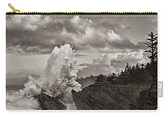 Crashing Waves At Shore Acres Carry-all Pouch by Patricia Davidson