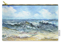 Crashing Waves In Florida  Carry-all Pouch