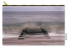 Carry-all Pouch featuring the photograph Crashing Waves In Rehoboth by Rob Sellers