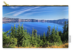 Carry-all Pouch featuring the photograph Crater Lake Rim Reflections by Frank Wilson