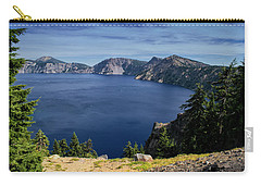 Carry-all Pouch featuring the photograph Crater Lake View by Frank Wilson