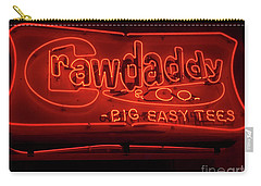 Carry-all Pouch featuring the photograph Craw Daddy Neon Sign by Steven Spak